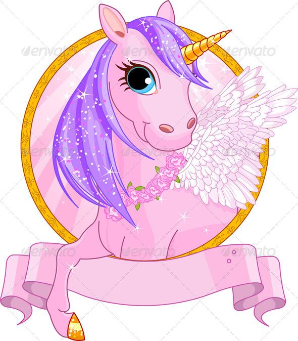 Unicorn Sign - Animals Characters