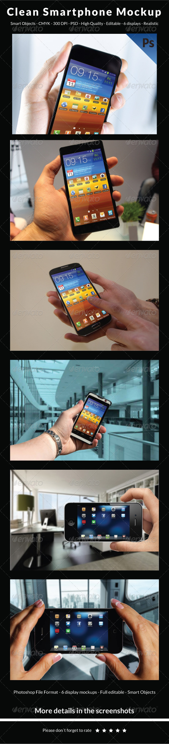 Clean Smartphone Mockup - Mobile Displays