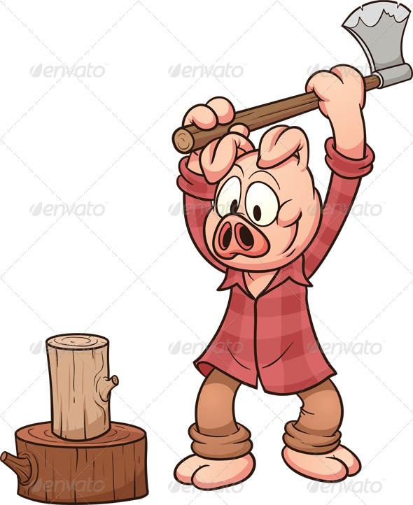 Lumberjack Pig - Animals Characters
