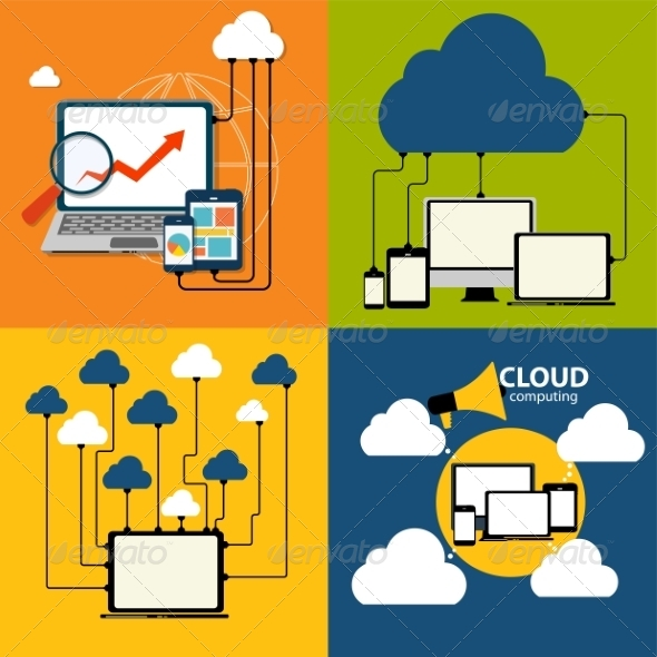 Cloud Computing Concept on Different Devices - Computers Technology