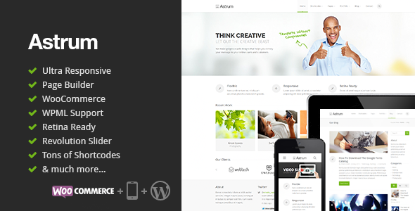 Astrum – Responsive Multi-Purpose WordPress Theme