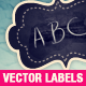 Blackboard Vector Labels Collection - GraphicRiver Item for Sale