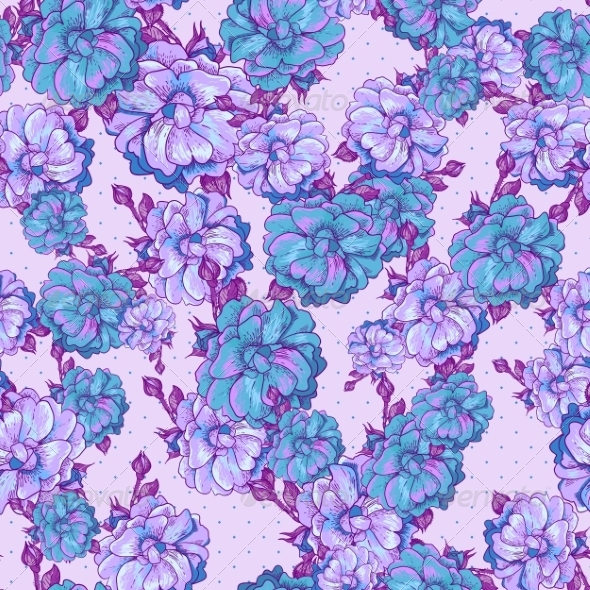 Vintage Floral Seamless Pattern - Patterns Decorative