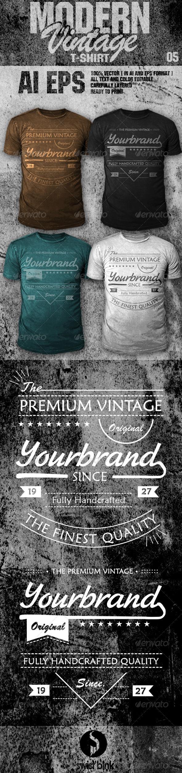 Modern Vintage T-Shirt 05 - Designs T-Shirts