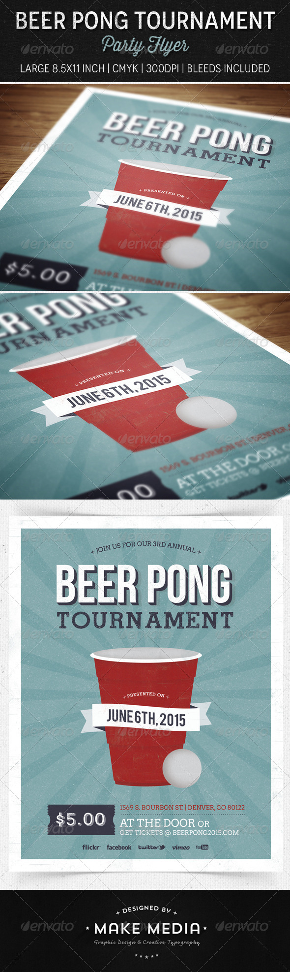 Beer Pong Party Flyer - Miscellaneous Events