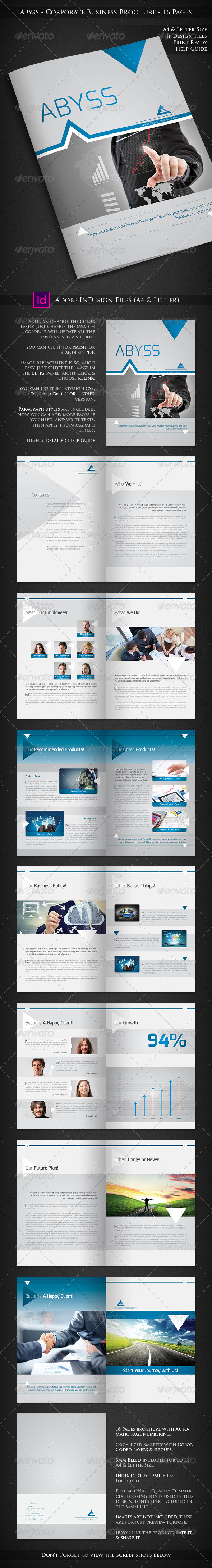 Abyss - Corporate Business Brochure - 16 Pages - Corporate Brochures