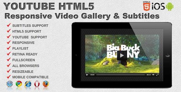 Responsive video gallery youtube html5 subtitles by creativemedia responsive video gallery youtube html5 subtitles codecanyon item for sale ccuart Choice Image