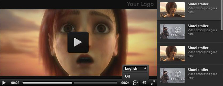 Responsive video gallery youtube html5 subtitles by creativemedia screenshot1g ccuart Choice Image