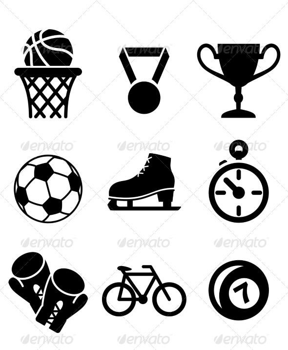 Collection of Sports Icons - Sports/Activity Conceptual
