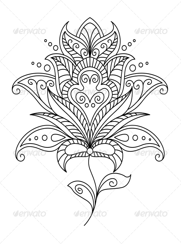 Intricate Floral Design Element - Flourishes / Swirls Decorative