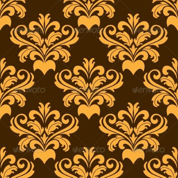 Damask Style Seamless Pattern - Patterns Decorative