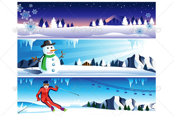 Winter Banner - Decorative Vectors