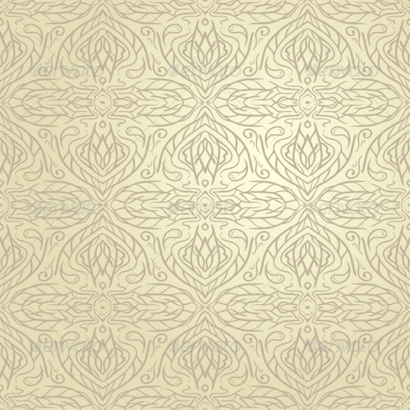 Seamless Abstract Hand Drawn Vector Pattern - Backgrounds Decorative