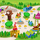 Amusement Park Map - GraphicRiver Item for Sale