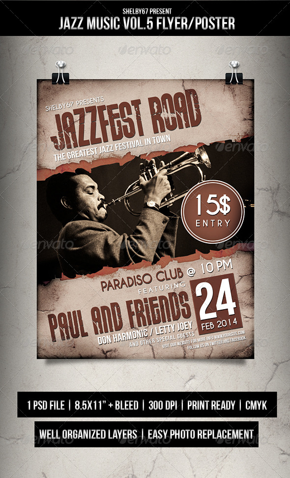 Jazz Music Flyer / Poster Vol. 5 - Events Flyers