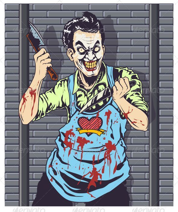 Butcher Clown Vector - Vectors