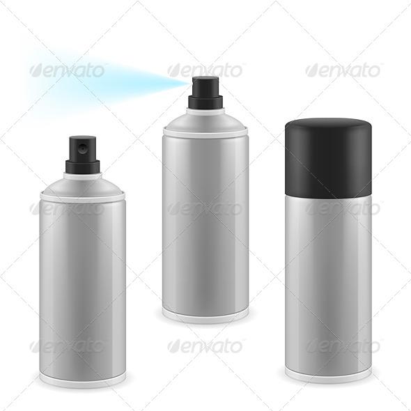 Three Spray Cans - Miscellaneous Vectors