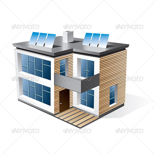 Modern Family House - Buildings Objects