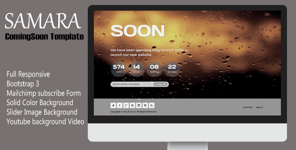 Samara – Responsive Coming Soon Template