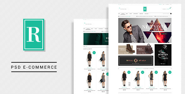Royal  E-Commerce PSD Template - Shopping Retail