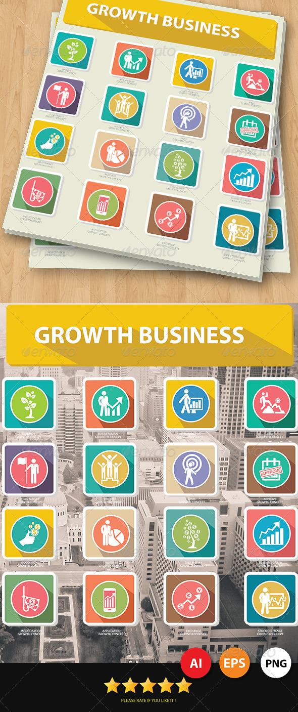 Growth Business Concept Icons - Business Icons