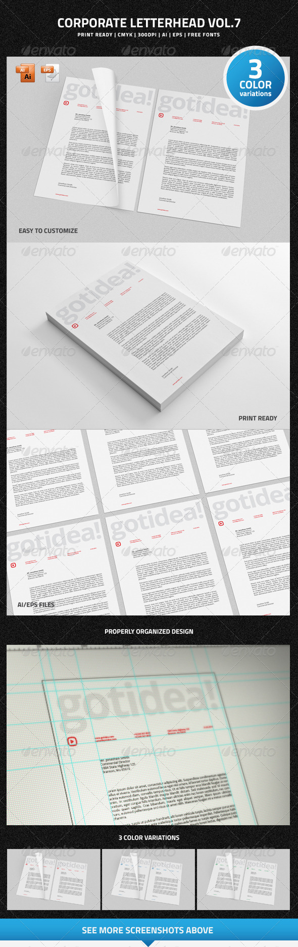 Corporate Letterhead vol.7 - Stationery Print Templates
