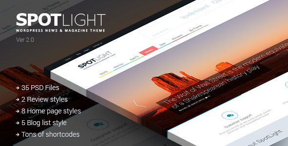 SpotLight | Clean News Magazine & Blog - Miscellaneous PSD Templates