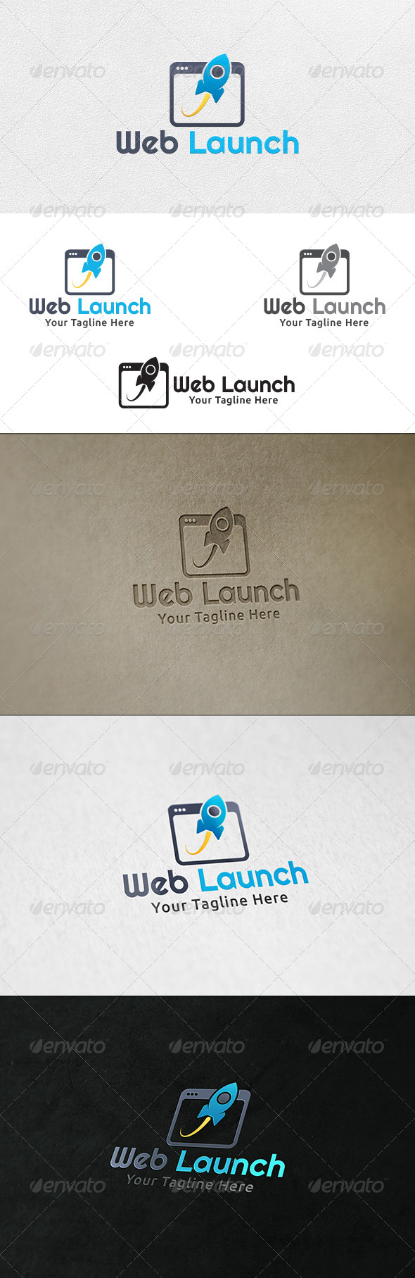 Web Launch - Logo Template - Objects Logo Templates