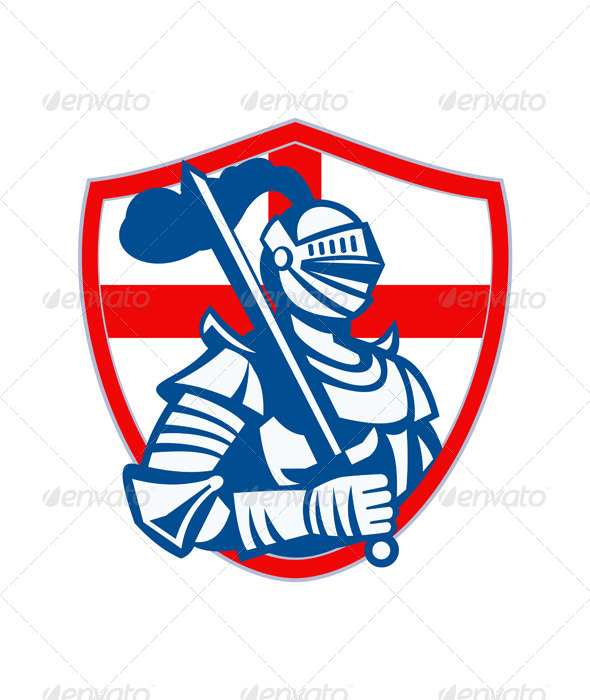 English Knight Holding Sword  - People Characters