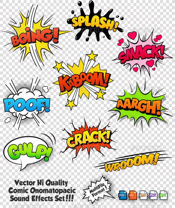 Comic Sound Effects Set 2 - Vectors
