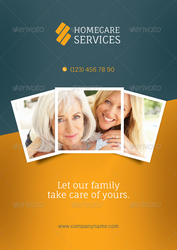 Home Care Brochure Templates By Grafilker GraphicRiver - Home care brochure template