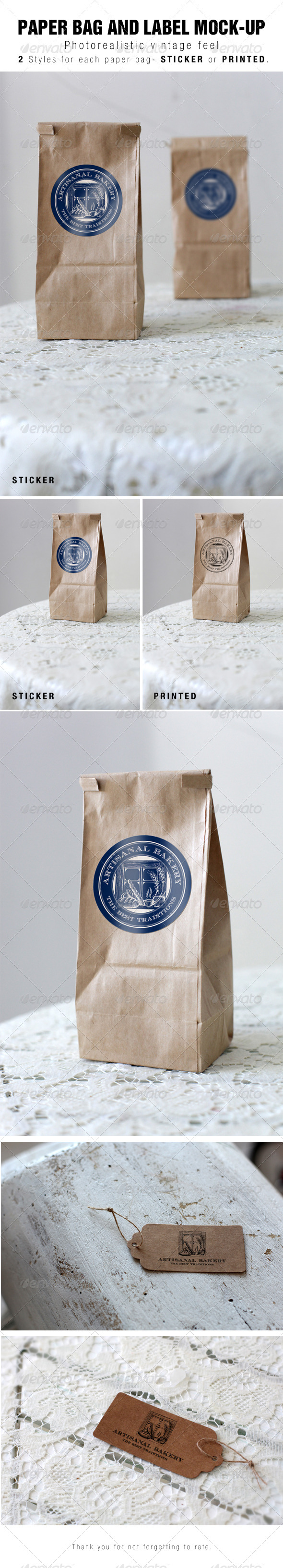 Paper Bag Mockup - Miscellaneous Print