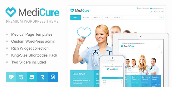 MediCure – Health  & Medical WordPress Theme