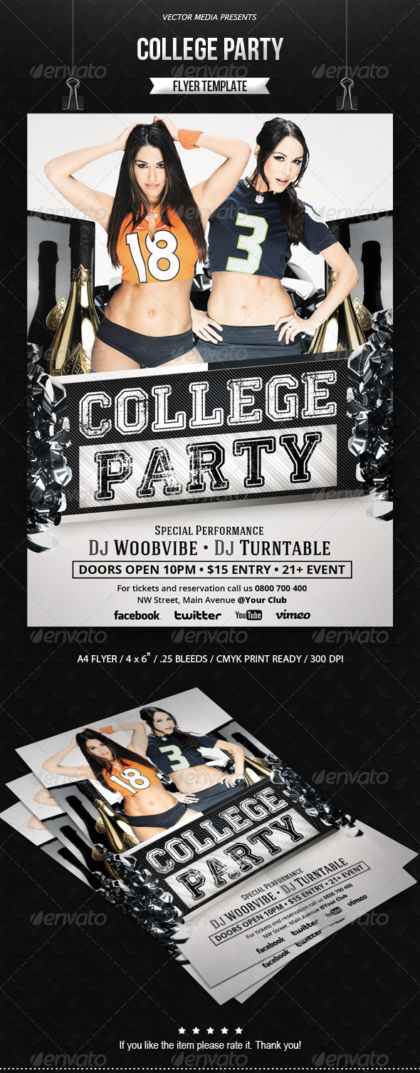 College Party - Flyer - Clubs & Parties Events
