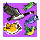 Flying Bird Game Character Pixel Art Sprite - GraphicRiver Item for Sale