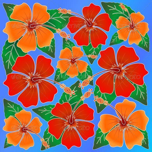 Hibiscus Batik Pattern - Flowers & Plants Nature