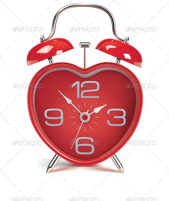 Heart Shaped Alarm Clock - Man-made Objects Objects