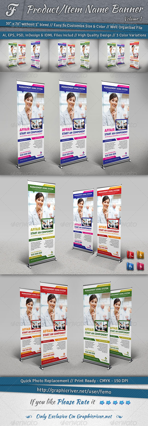 Workspace Banner - Signage Print Templates