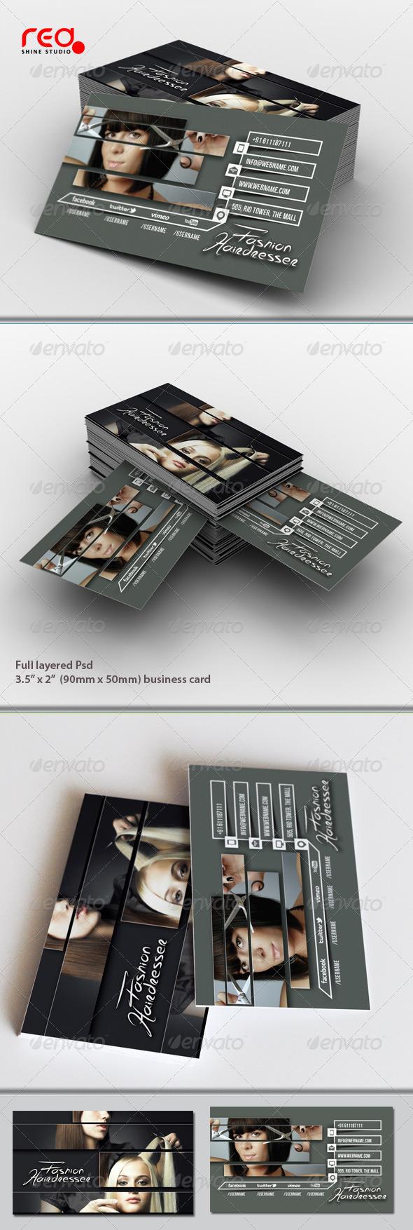 Hairdresser Salon Business Card - Creative Business Cards