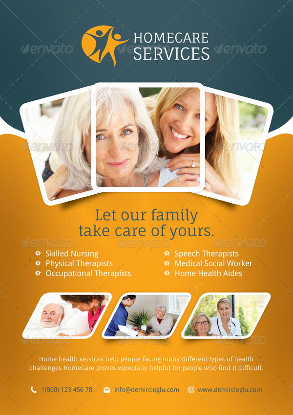 home care flyer templates by grafilker