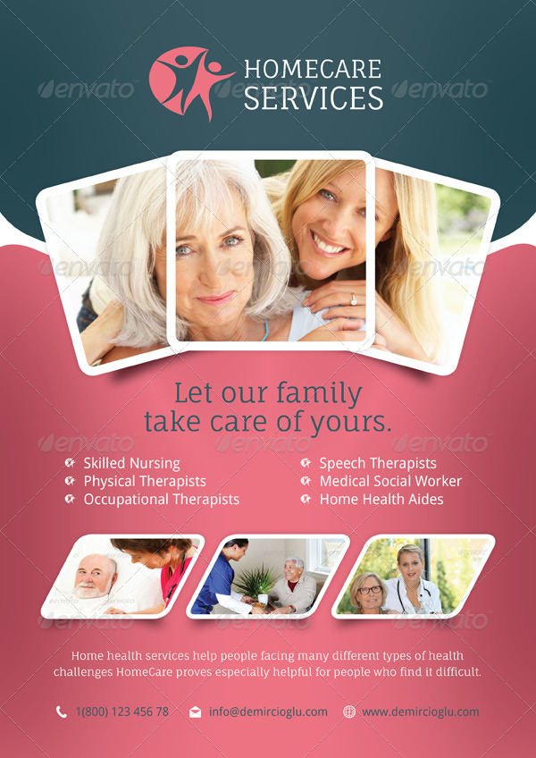 Home Care Flyer Templates by grafilker | GraphicRiver