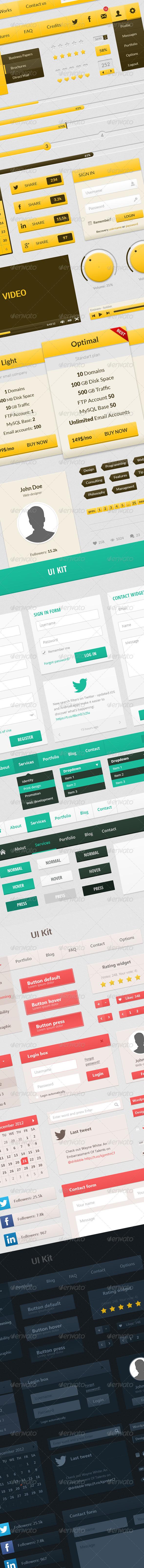 UI Web Elements Pack - User Interfaces Web Elements