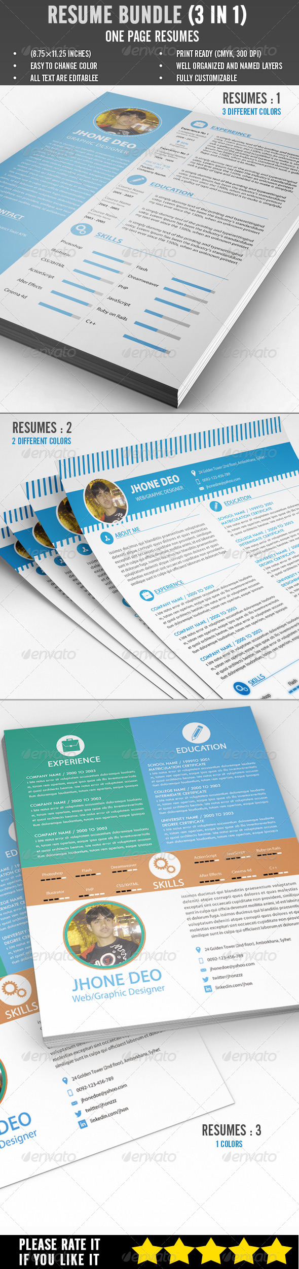 Resume Bundle (3 in 1) - Resumes Stationery