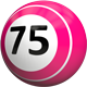 75 Bingo Balls - Angled to the Left - GraphicRiver Item for Sale