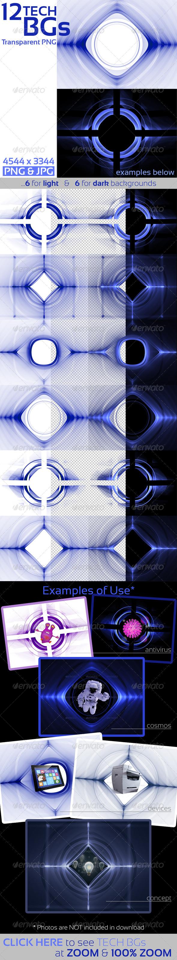 Tech Templates on Transparent Background - Tech / Futuristic Backgrounds
