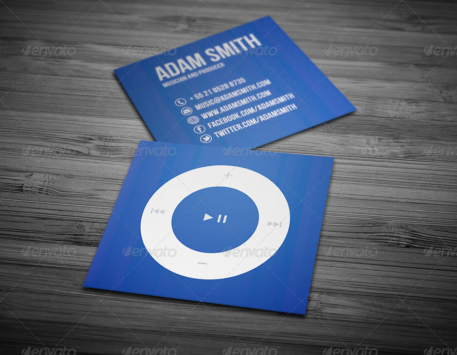Mini Music Business Card by JorgeLima | GraphicRiver