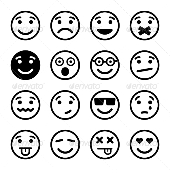 Smiley Faces Set - Miscellaneous Characters