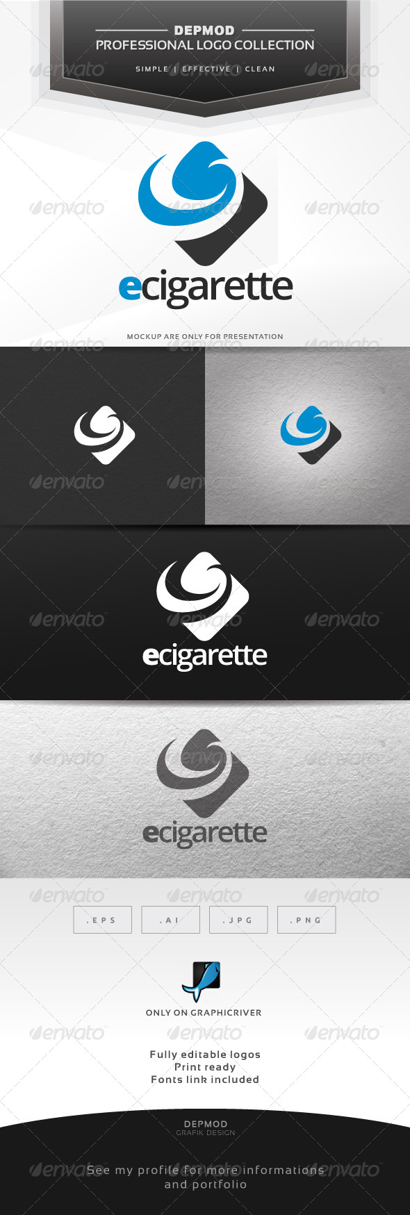 e-Cigarette Logo - Abstract Logo Templates