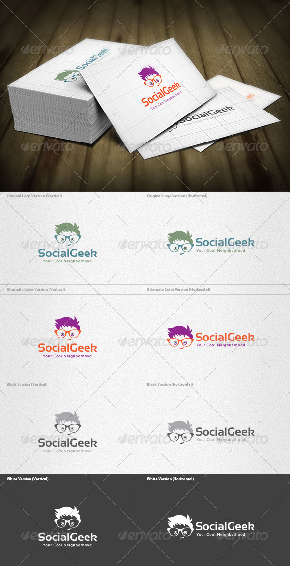 Social Geek Logo - Humans Logo Templates