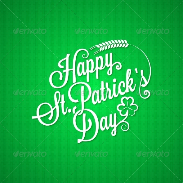 Patrick Day Vintage Lettering Background - Miscellaneous Seasons/Holidays